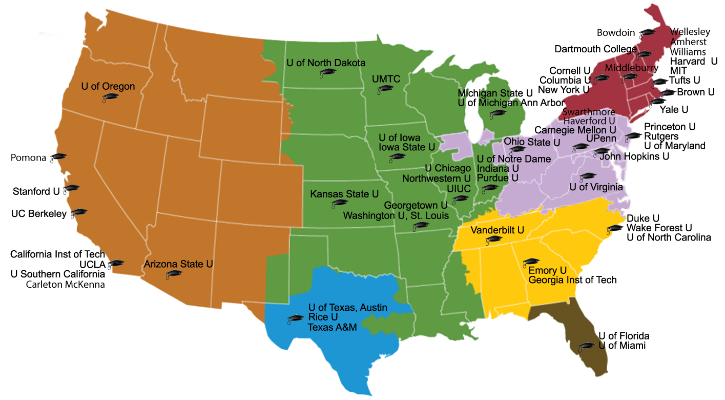 Self Assessment What It Takes To Get Into Dream US University - Map of us universities