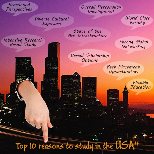Top 10 Reasons to Study in USA!!!